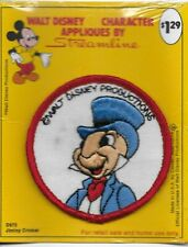 Vintage Walt Disney Streamline Applique Patch Jiminy Cricket D972 New with Stain