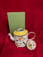 KELVIN CHEN Enamel Copper Handpainted Mini Watering Can Floral Dream
