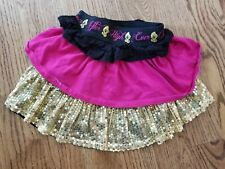 Ever After High Girls Sequined Embellished Tier Skirt Size S 6/6x