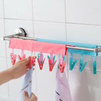 Travel Cloth Hanger Drying Rack Women Portable Foldable Clothespin Clip E&F