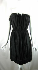 BOTTEGA VENETA Black Strapless Cocktail Dress Size 40