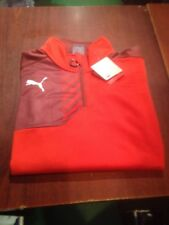 Puma 1/4 Zip Training Top Jacket. Red. Size XL. NEW With Tags