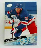 K'Andre Miller Young Guns RC #469 Rookie 2020-21 Upper Deck Series 2 Rangers