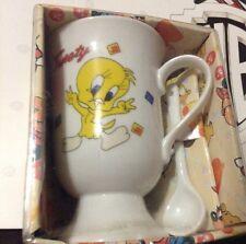 Disney Tweety Bird Mug And Spoon Set Cup Tea Coffee Warner Brothers Looney Tunes