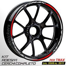 ADESIVI CERCHI WHEEL STRIPES PROFILO RUOTA ROSSO 500 COMPATIBILE CON TMAX T-MAX 01//03
