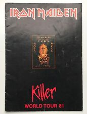 IRON MAIDEN rare 1981 SIGNED / AUTOGRAPHED Killer tour programme