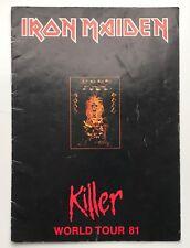 IRON MAIDEN rare 1981 SIGNED / AUTOGRAPHED Killer tour programme