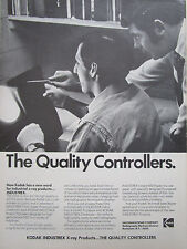 7/1972 PUB EASTMAN KODAK INDUSTREX INSTANT PAPER 600 X-RAY RADIOGRAPHY AD