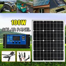 100W 18V Solar Panel Car Outdoor Battery Charger+10A Solar Controller