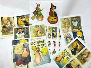 Vintage Halloween graphics pack decoupage scrapbook junk journal crafts