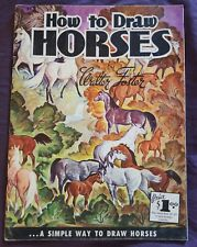 Vintage How To Draw Horses By Walter Foster Paperback #11