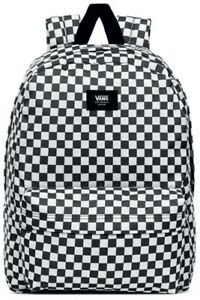 Vans Old Skool School College Black White Check Rucksack BackPack Bag Uniform