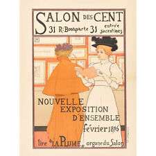 Rassenfosse Salon Des Cent New 1896 Exhibition Advert Wall Art Canvas Print