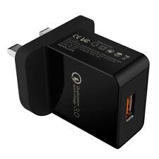 Reino Unido Cargador rápido de la UE QC 3.0 USB 18W solo Puerto USB Adaptador De Cargador De Pared Rápido
