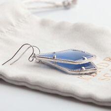 Kendra Scott Silver Alex Drop Earring In Periwinkle Blue Cat's Eye New Dust Bag