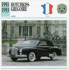 1951-1953 HOTCHKISS GREGOIRE Classic Car Photograph / Information Maxi Card