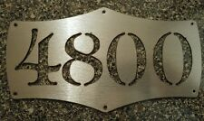Custom Address Placard Initials or House Numbers sIGN Deco CNC Metal Wall aRT