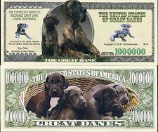 Usa Dollar Bill Great Dane Lover 1 Million Doggie Bones