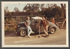 Vintage Car Photo Family w/ Charlie Brown Christmas Tree & 1936 Ford 675845
