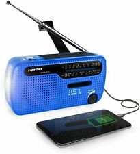 KOZO FM AM SW1 2 WORLD BAND RECEIVER WITH FLASHLIGHT CRANKER DYNAMIC & SOLAR