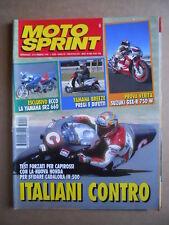 MOTOSPRINT n°6  1995 [Q78]  Test SUZUKI GSX-R 750 W YAMAHA SRZ 660
