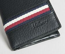 MULBERRY 8 Card Wallet Heavy Grain Leather Stripes Black. Genuine Sale RRP£250