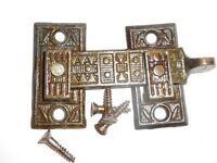 1 RARE MORE AVAIL NOS ANTIQUE SHUTTER BAR JELLY CABINET LATCH 1880's #001