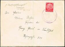 716 GERMANY SUDETENLAND COVER NEUERN (CZECH)