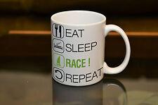 SAILOR GIFT EAT SLEEP Race Dinghy Mug Birthday Gift Sport Hobby Personalised