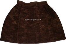 NWT DOLCE & GABBANA D & G 40 mini skirt brown wool cotton designer runway sheen