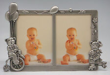 3½ x 5 Double Photo Frame - Bears & Bicycle (Item # 383)