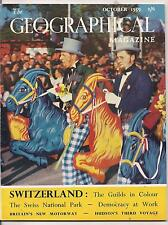 the geographical magazine-OCT 1959-SWISS GUILDS' PROCESSION,ZURICH.