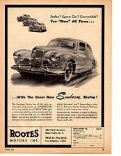 1955 SUNBEAM SKYTOP  ~  RARE ORIGINAL PRINT AD