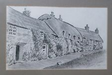 Original Charcoal Drawing Souvenir Isle of Wight England by Stuart Jones 6x9""