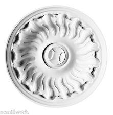 Rose Rosette Medallion 7 inch R11 Orac Decor Primed White round ceiling wall sm