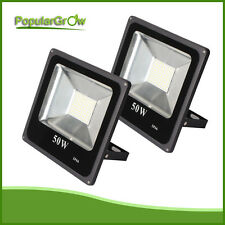 2PCs thin 50W SMD LED FloodLights IP66 Super Bright Outdoor Security Light 6500K