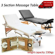 "3 Fold Massage Table Adjustable Facial SPA Salon Bed Tattoo Chair Portable 84"""