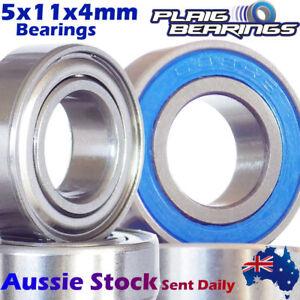 5x11x4mm PREMIUM Precision Bearings - Stainless Steel - Ceramic - Chrome Steel