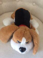 """Pound Puppy 15"""" Beagle Brown w Black & White Spots Plush Stuffed Animal 2004"""
