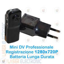 Mini Micro Telecamera Spy Camera 1280X720p Registrazione Continua + SD Card 16GB