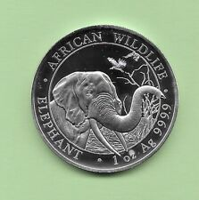 "2018 Silver African Wildlife ""ELEPHANT"" Somali Republic Coin"