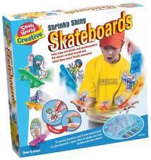 Skateboards Craft Set Kit Color Bake Shrink Decorate Kids Boy Gift Play New