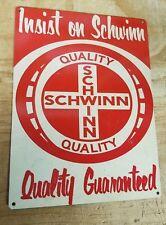Schwinn bikes vintage quality guaranteed advertisement reproduction steel sign