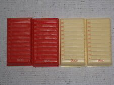 Rack-O Game Set of 4 Card Trays Spare Parts Pieces 1966 Racko
