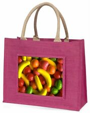 Fruit Sweets Large Pink Shopping Bag Christmas Present Idea, F-F1BLP