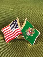 Vintage US Army And Flag Pin