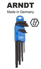 LONG Ball End Allen Hex Key Hexagonal Alen Keys Set 9 PCS 1.5-10mm ARNDT 300-9