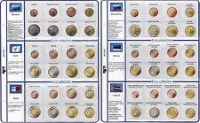91/K6] PAGINA AGGIORNAMENTO PER SERIE MONETE EURO 6 PAESI  SLOVENIA CIPRO MALTA