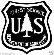 US FOREST SERVICE SHIELD STICKER BUMPER STICKER BLACK LAPTOP STICKER TOOLBOX