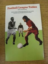 1889-1977 Football League Tables: Softback Book, All The Tables, All The Importa
